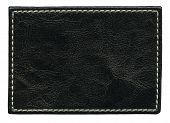 image of stitches  - Blank leather background with stitches - JPG