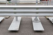 image of safety barrier  - Preventing crash divider barrier for highway safety - JPG