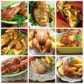 pic of french toast  - collage of various chicken products  - JPG
