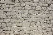 stock photo of grout  - Masonry of limestone in the house in Alacati village Turkey - JPG