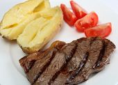 Grilled New York Steak With Veg poster