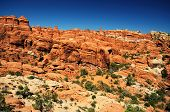 foto of turret arch  - beautiful Fiery Furnace viewpoint at arches national park - JPG