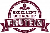 Excellent Source of Protein Healthy Nutrition Stamp
