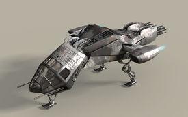 picture of battleship  - Fantasy 3D model of futuristic battleship pod for sci - JPG