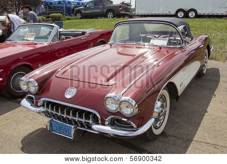 1960 Chevy Corvette Convertible Side View