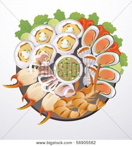Dish Of Seafood
