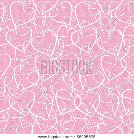 hearts lace pattern