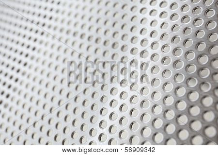 Metal Background With Circles