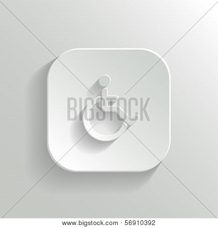 Disabled icon - vector white app button