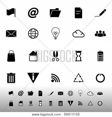 Web And Internet Icons On White Background