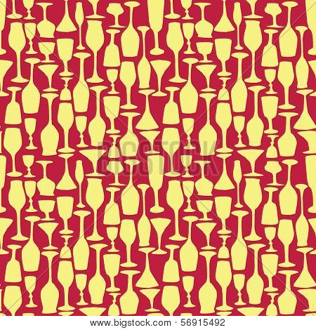 seamless vector pattern with wineglass