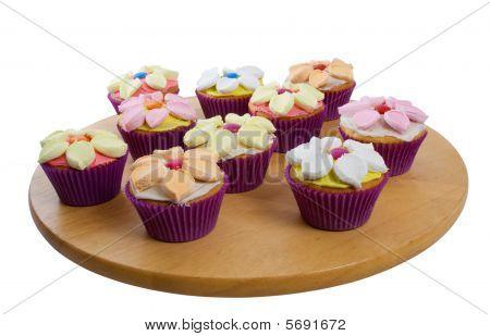 Cup Cakes über Whire Hintergrund