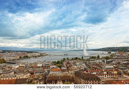 Panoramic view of city of Geneva