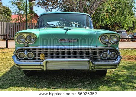 1958 Chevrolet Biscayne 4 Door Front View