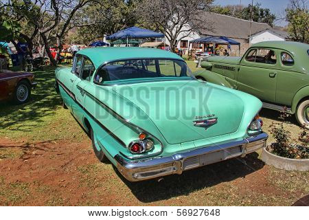 1958 Chevrolet Biscayne 4 Door Rear View