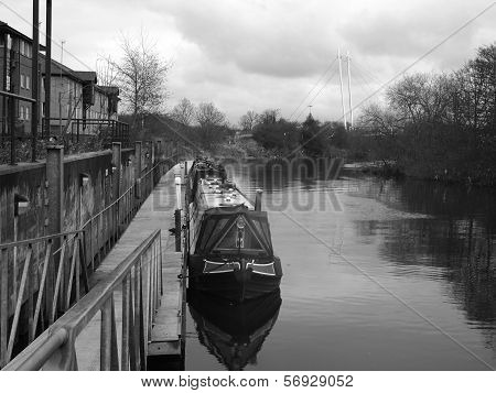 Canal Boat at Rest