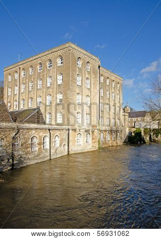 River Avon in flood, Bradford on Avon, United Kingdom