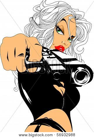 Blonde With Gun