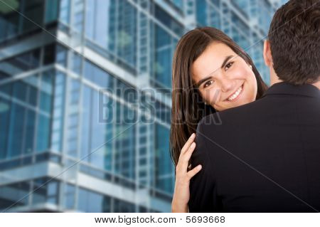 Business hug