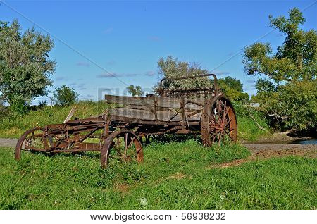 Old Manure Spreader in the Pasture