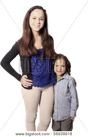 Brother And Sister Or Babysitter With Boy