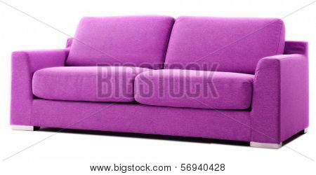 isolated purple couch
