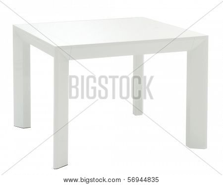 white isolated table