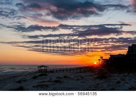 Sun Setting On The Beach