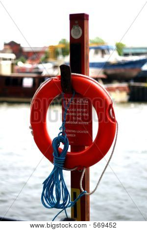 Lifebouy With Sign
