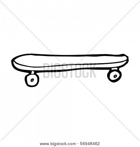cartoon skateboard