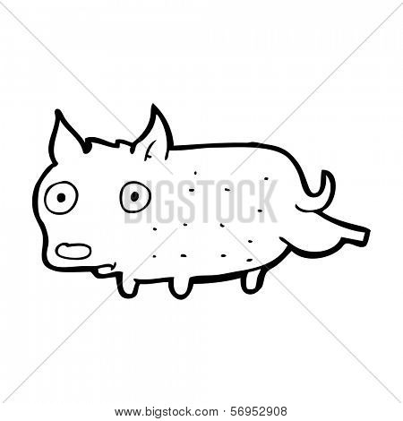 cartoon little dog cocking leg