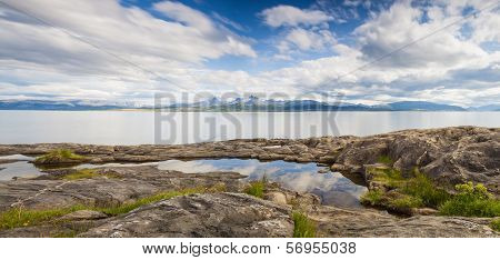 Calm Fjord In Northern Norway