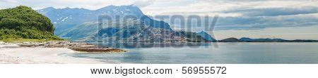 Panoramic View Of Norwegian Seaside