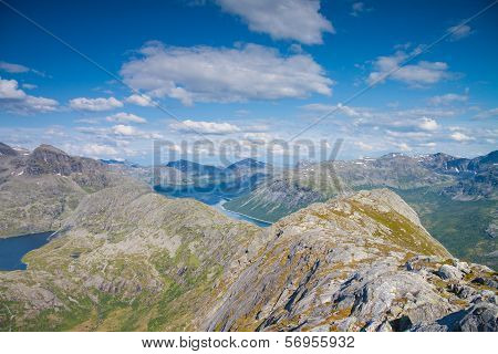 View From A Peak In Northern Norway