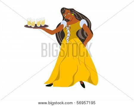 black barmaid
