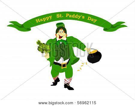 leprechaun happy St. Paddy's Day