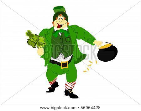 leprechaun clover pot of gold