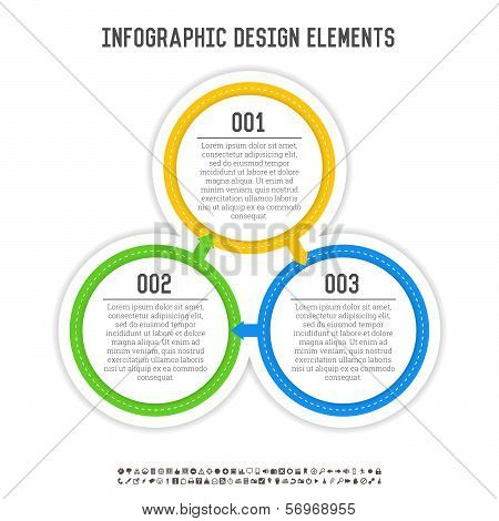 Three Circle Infographics
