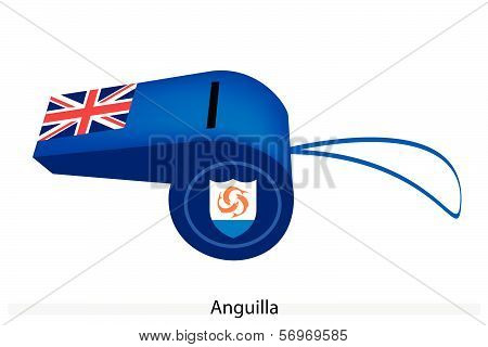 A Beautiful Blue Whistle Of Anguilla Flag