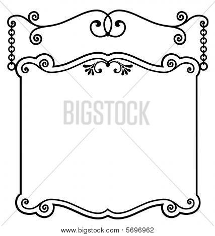 Hanging Sign Panel