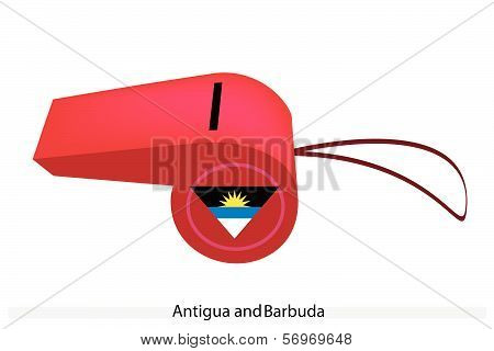 A Red Whistle Of Antigua And Barbuda