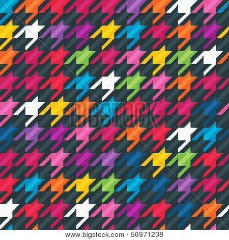 Abstract background with houndstooth print.