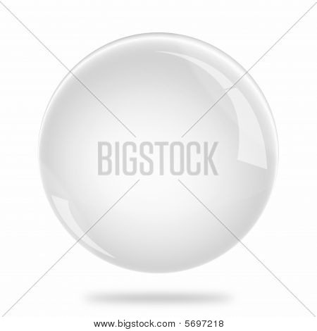 Blank White Sphere Float