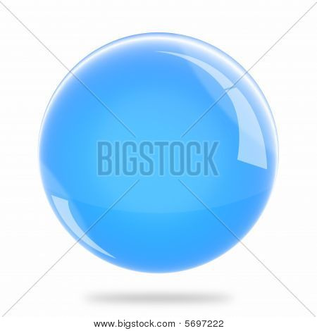 Blank Light Blue Sphere