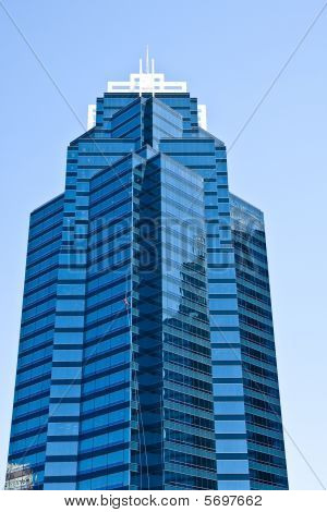 Blue Tower With Window Washer