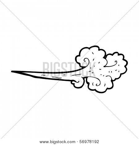 cartoon gust of wind