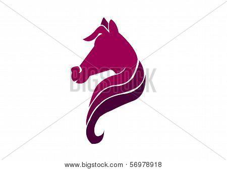 Violet Horse Head Illustration