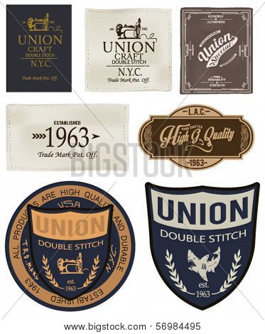 vintage label tags collection