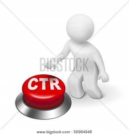 3D Man With Ctr Click Through Rate Button