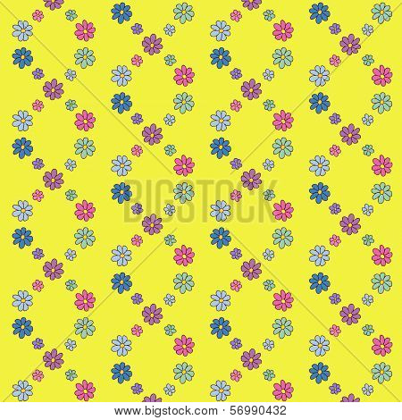 Colorful Hand-Drawn Flower Pattern